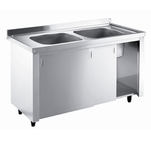 Inomak Stainless Steel Sink on Cupboard LK5142C - Double Bowl, No Drainer