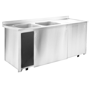 Inomak Stainless Steel Sink on Cupboard LK5192L - Double Bowl, Right Hand Drainer