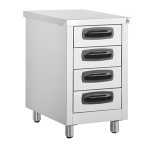 Inomak Stainless Steel 4 Drawer Unit ES764C