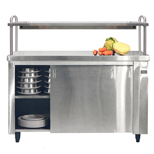 Inomak Heated Cupboard with Single Gantry & Quartz Heated Box HCP16 - 1600mm