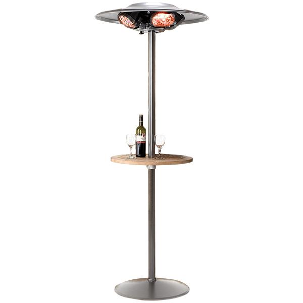 Heatmaster Select Patio Heater U5b R20 With Table Drinkstuff