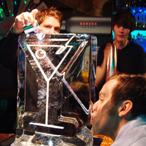 Martini Glass Vodka Luge