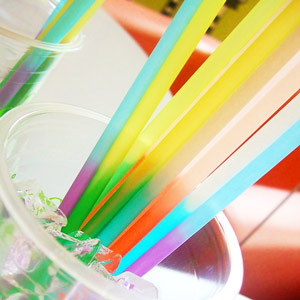 Colour Changing Drinking Straws