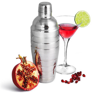 Manhattan Nights Ribbed Cocktail Shaker