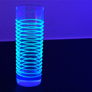 Black Light Hiball Glasses 7.7oz / 220ml