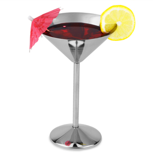 Stainless Steel Martini Glasses 6oz / 170ml