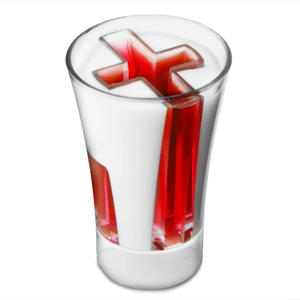 England Plastic Shot Glasses 1oz / 30ml