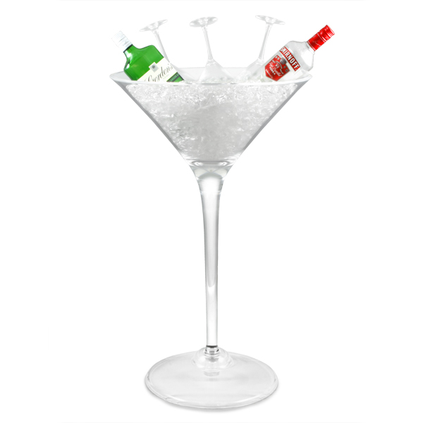 giant acrylic martini glass 500oz 14ltr drinkstuff. Black Bedroom Furniture Sets. Home Design Ideas