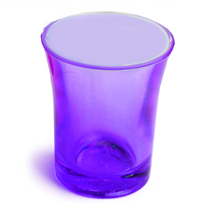 Econ Neon Purple Polystyrene Shot Glasses CE 0.9oz / 25ml
