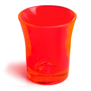 Econ Neon Orange Polystyrene Shot Glasses CE 0.9oz / 25ml