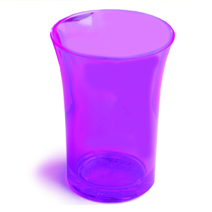 Econ Neon Purple Polystyrene Shot Glasses CE 1.25oz / 35ml