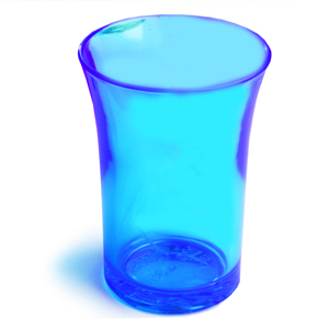 Econ Neon Blue Polystyrene Shot Glasses CE 1.25oz / 35ml