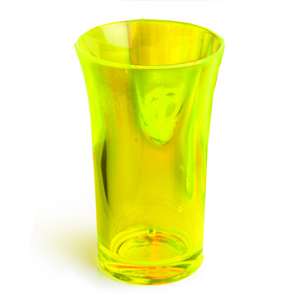 Econ Neon Yellow Polystyrene Shot Glasses CE 1.75oz / 50ml