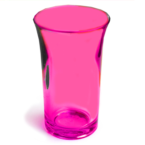Econ Neon Red Polystyrene Shot Glasses CE 1.75oz / 50ml