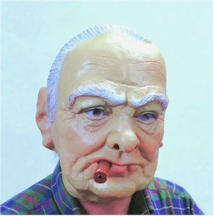 Winston Churchill Caricature Mask