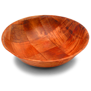 Round Woven Wooden Bowl 205mm