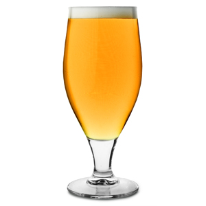 Cervoise Stemmed Head First Beer Glasses 11.3oz LCE at 10oz