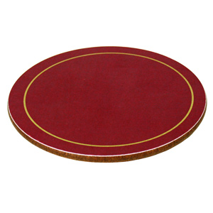 Melamine Round Coasters Red
