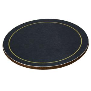 Melamine Round Coasters Blue