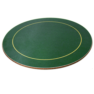 Melamine Round Placemats Green