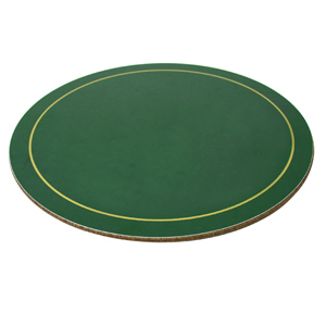 Melamine Round Tablemats Green