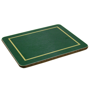 Melamine Coasters Green