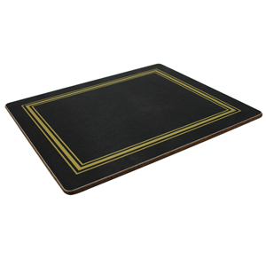 Melamine Tablemats Small Black