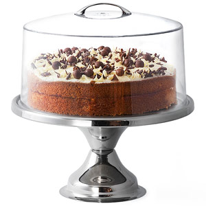 Stainless Steel Cake Stand and Metal Handle Cake Dome