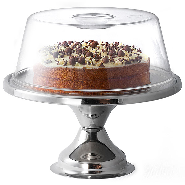 Stainless Steel Cake Stand and Plastic Cake Dome  sc 1 st  Drinkstuff & Stainless Steel Cake Stand and Plastic Cake Dome | 12 Inch Cake ...