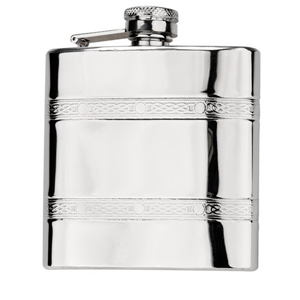 Sterling Stainless Steel Hip Flask 6oz