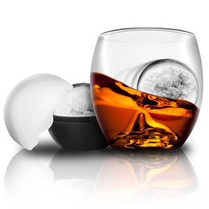 On the Rocks Glass & Ice Ball Mould