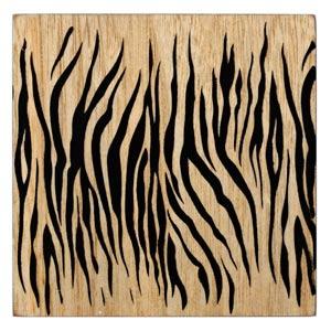 Inspire Zebra Printed Wood Veneer Coasters
