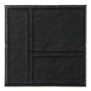 Inspire Black Patchwork Faux Leather Coasters