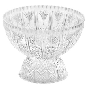 Crystalware Punch Bowl with Pedestal Base 400oz / 11.4ltr
