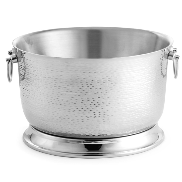 Stainless Steel Double Walled Round Beverage Tub Party