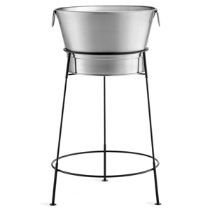 Stainless Steel Beverage Tub with Black Stand