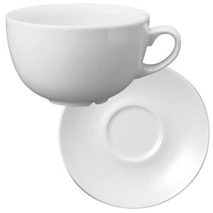 Churchill White Beverage Cappuccino Cup CB40 and Cappuccino Saucer CSS 14oz / 400ml