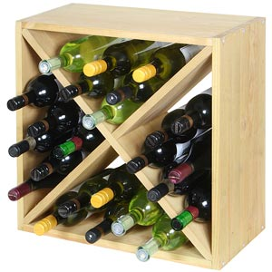 Wine Cellar Cube Natural Pine 300mm - 24 Bottle