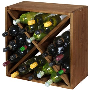 Wine Cellar Cube Dark Oak 300mm - 24 Bottle