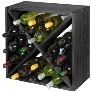 Wine Cellar Cube Black Ash 300mm - 24 Bottle