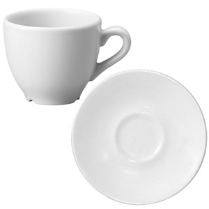 Churchill White Beverage Espresso Cup CEB9 and Espresso Saucer ESS 3oz / 90ml