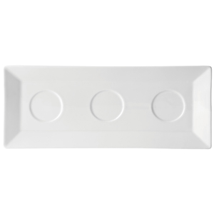Utopia Anton Black Tray with 3 Recesses 11 x 5inch / 29 x 12cm
