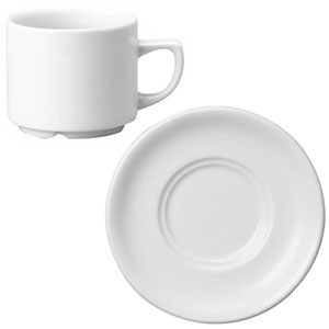 Churchill White Maple Breakfast Cup CBM and Maple Saucer TSOL 28cl / 10oz