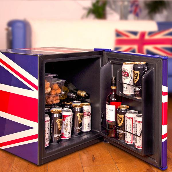 Husky Union Jack Refrigerator Mini Fridge Husky Fridge