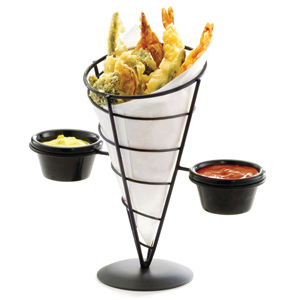 Vertigo Appetizer Cone with Two Ramekins