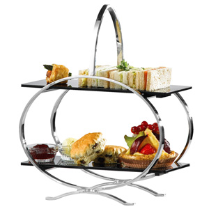 Stainless Steel Cake Stand & 2 Inserts