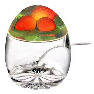 Strawberry Jam Pot with Spoon