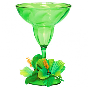 Floral Paradise Lime Green Margarita Glass 12.5oz / 355ml