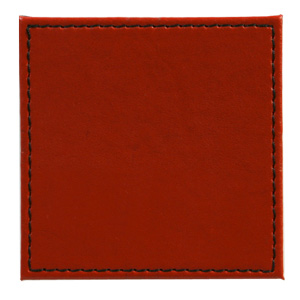 Inspire Reversible Black/Red Faux Leather Coasters