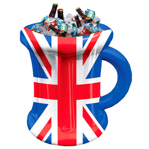 Inflatable Union Jack Beer Mug Cooler